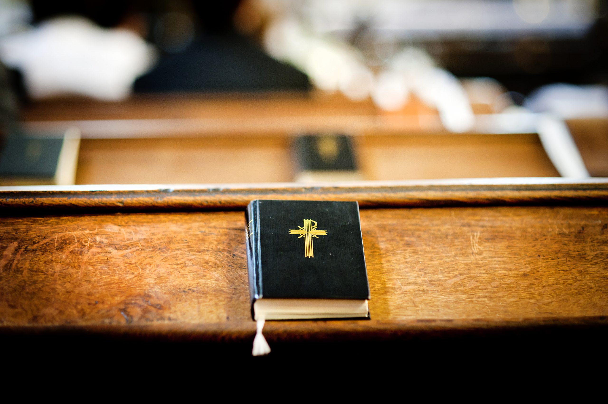 Bible on church pews
